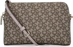 Brązowa torebka DKNY na ramię