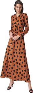 Sukienka Nife w stylu boho z długim rękawem