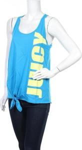 Niebieska bluzka Juicy Couture z okrągłym dekoltem w sportowym stylu