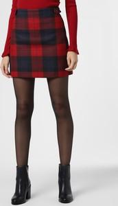 Czerwona spódnica Tommy Hilfiger z kaszmiru mini