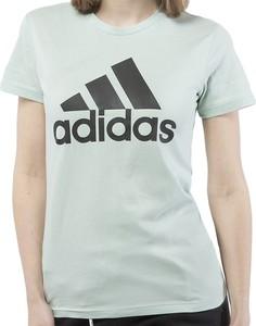 T-shirt Adidas z krótkim rękawem z okrągłym dekoltem w sportowym stylu
