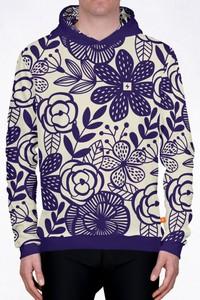 Fioletowa bluza Power Canvas w młodzieżowym stylu