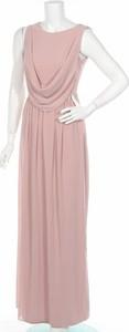 Różowa sukienka Tfnc London prosta maxi