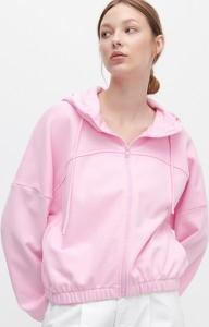 Różowa bluza Reserved krótka w stylu casual