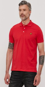 Czerwona koszulka polo Lyle & Scott w stylu casual z dzianiny