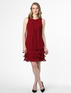 Czerwona sukienka Marie Lund trapezowa