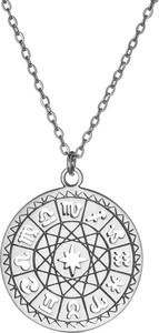 Ania Kruk Naszyjnik ASTRO srebrny ze znakami zodiaku