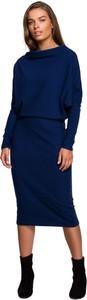 Sukienka Style z długim rękawem w stylu casual midi