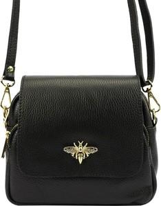 Czarna torebka Vera Pelle na ramię średnia matowa