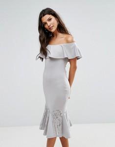 Srebrna sukienka Ax Paris baskinka