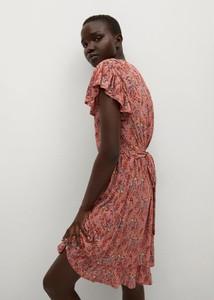 Sukienka Mango z krótkim rękawem