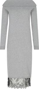 Sukienka Twinset z kaszmiru z długim rękawem w stylu casual