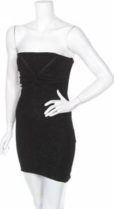 Czarna sukienka Bershka mini bez rękawów gorsetowa