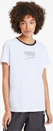 T-shirt Puma z krótkim rękawem z bawełny z okrągłym dekoltem