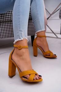 Brązowe sandały Ps1 z zamszu