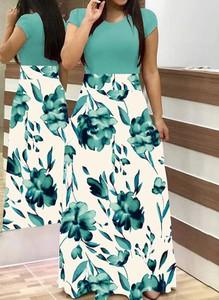 Zielona sukienka Arilook z bawełny maxi