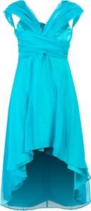 Niebieska sukienka Pinko z dekoltem w kształcie litery v