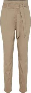 Brązowe spodnie Vero Moda z bawełny