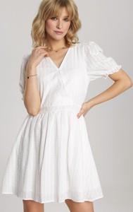 Sukienka Renee z krótkim rękawem z dekoltem w kształcie litery v mini