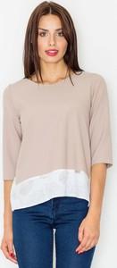 Różowa bluzka Figl z krótkim rękawem