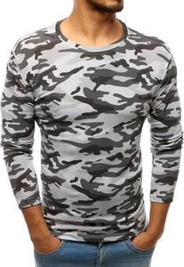 Koszulka z długim rękawem Dstreet w militarnym stylu z bawełny