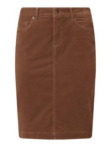 Brązowa spódnica Montego z bawełny midi
