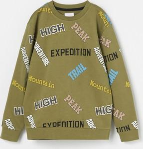 Zielona bluza dziecięca Reserved z bawełny