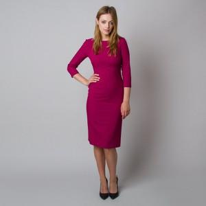 Sukienka Willsoor z długim rękawem z tkaniny z dekoltem w kształcie litery v