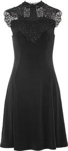 Czarna sukienka bonprix mini
