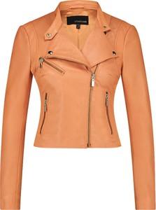 Pomarańczowa kurtka Studio Ar By Arma w stylu casual krótka