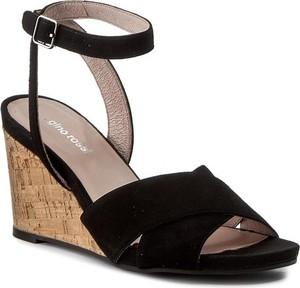Czarne sandały Gino Rossi