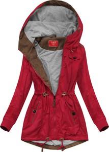 Czerwona kurtka Goodlookin.pl w stylu casual ze sztruksu