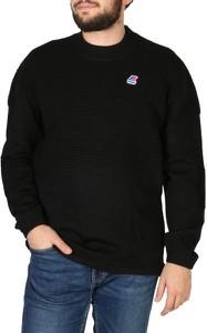 Czarny sweter K-Way w stylu casual z wełny