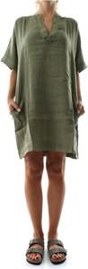 Zielona sukienka 40weft mini z dekoltem w kształcie litery v koszulowa