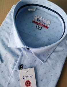Koszula Bodara z klasycznym kołnierzykiem z tkaniny z krótkim rękawem