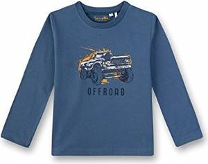 Niebieska koszulka dziecięca amazon.de z długim rękawem