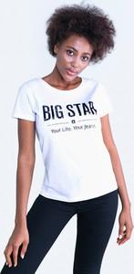 T-shirt Big Star z krótkim rękawem z dzianiny