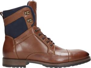 Brązowe buty zimowe wojas