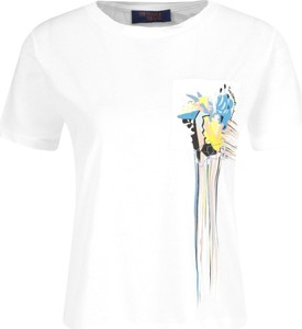 T-shirt Trussardi Jeans z okrągłym dekoltem