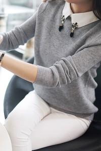 Sweter damski sweterek rosama grey z aplikacją