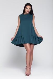 Sukienka Wox mini z okrągłym dekoltem