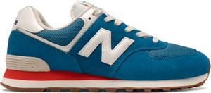 Turkusowe buty sportowe New Balance sznurowane