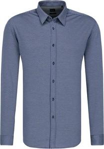 Niebieska koszula Boss Athleisure z długim rękawem