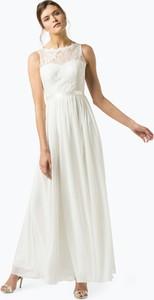 Sukienka Luxuar Fashion z okrągłym dekoltem maxi z szyfonu
