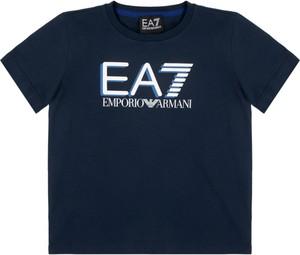 Granatowa koszulka dziecięca Emporio Armani