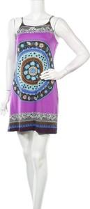 Sukienka Purple Jam z okrągłym dekoltem mini prosta