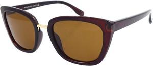 Brązowe okulary damskie Polarzone