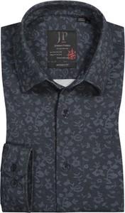 Czarna koszula JP1880 z klasycznym kołnierzykiem z bawełny