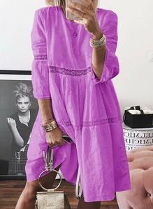 Sukienka Sandbella z długim rękawem mini oversize