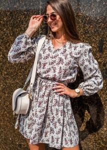 Sukienka Fason z bawełny z okrągłym dekoltem mini